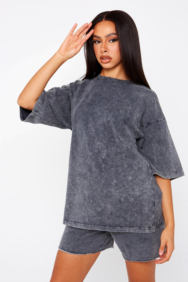 Grey Acid Wash T-Shirt