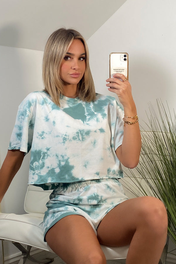 Green Tie Dye Lounge Set