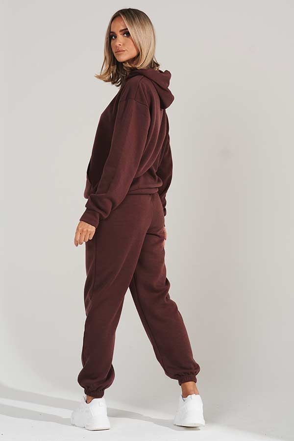 Brown Oversized Joggers