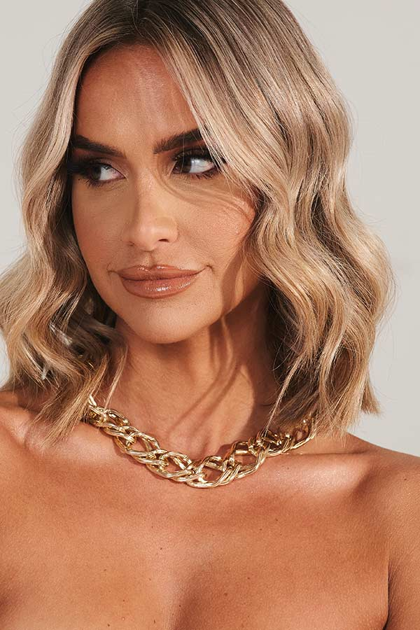 Gold Wide Chunky Chain Link Necklace
