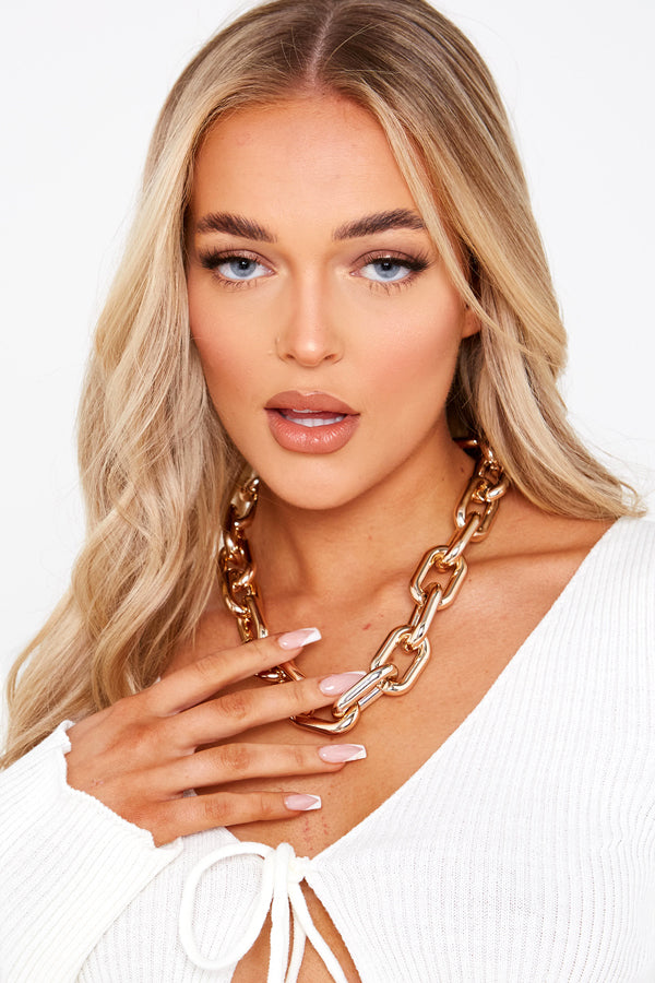 Gold Super Chunky Chain Necklace