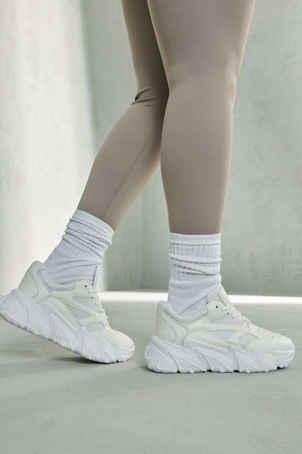 White Track Trainers