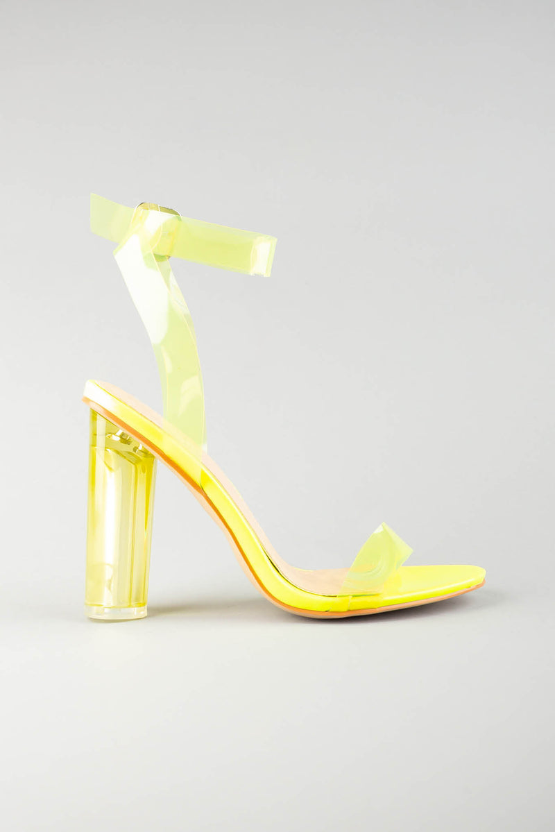 Aaliyah Lime Green Sandal with Perspex Strap
