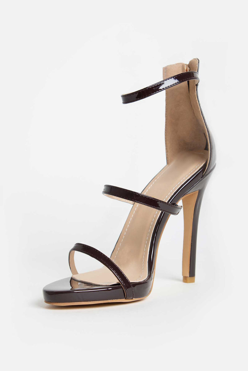 #LuxeForAll Jessica Heels in Chocolate Vegan Leather
