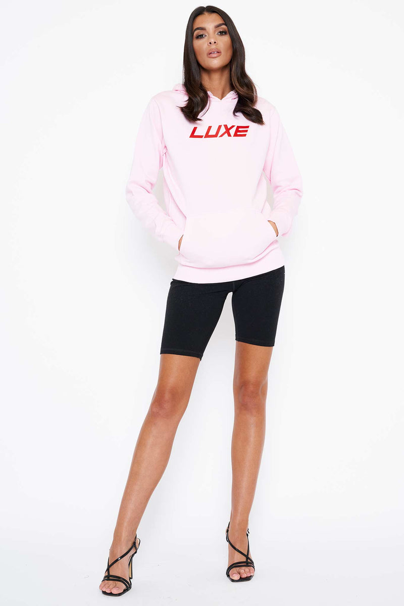 Pink Red LUXE Hoodie