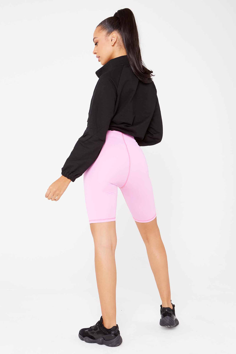 Pink Lycra Longline Cycling Shorts