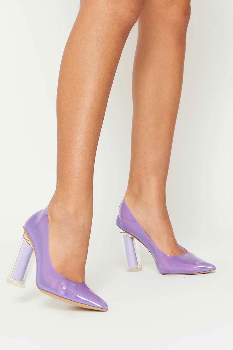 Jordyn Purple Pumps in Purple Perspex