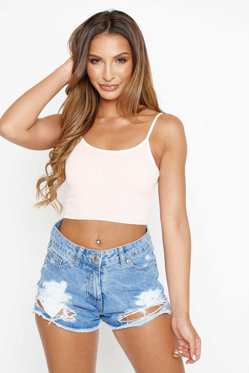 Pink Paris Crop Top