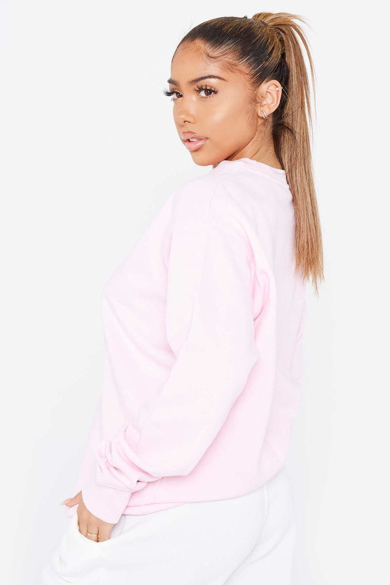 """ I Taste Better Than Skinny Feels"" Pink Sweatshirt"