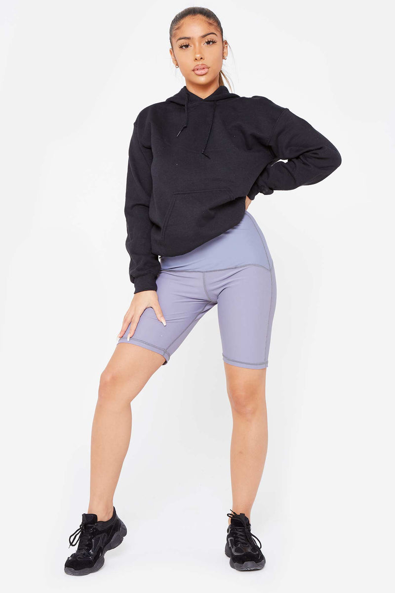 "Grey ""Going Commando"" Cycling Shorts"