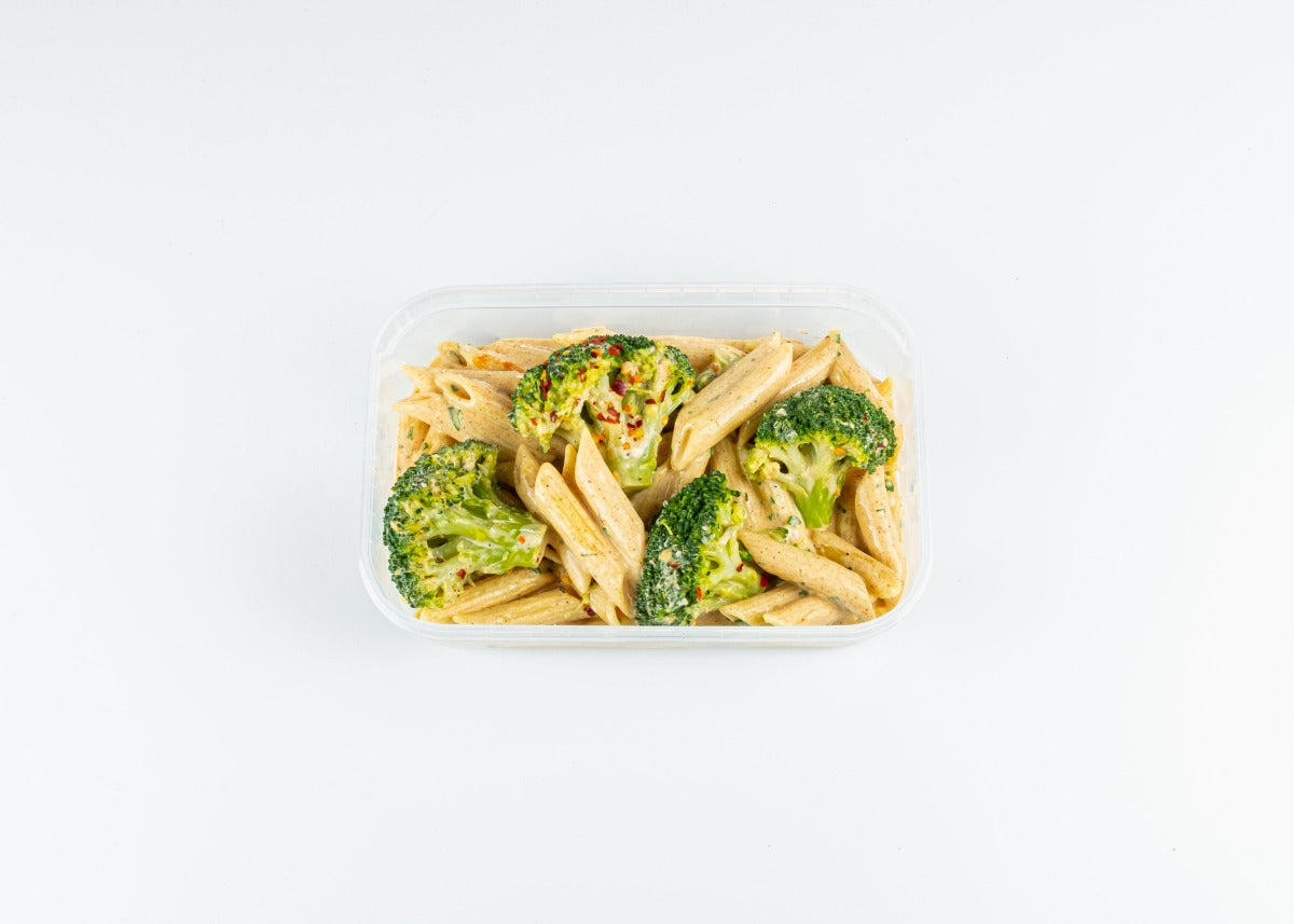 CAJUN CREAMY PASTA WITH BROCOLLI FLORETS - Vegetarian - Honestmealprep.co.uk
