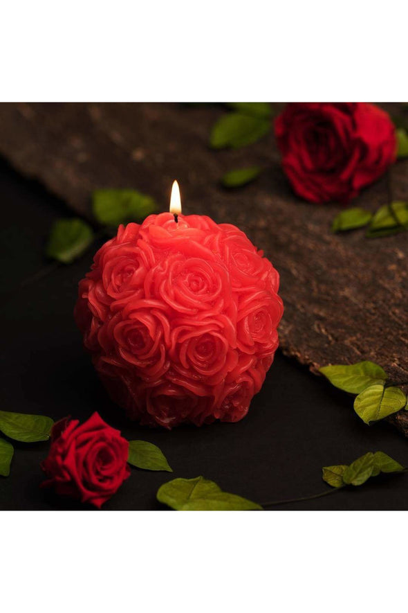 Rose Ball Decorative Candle.