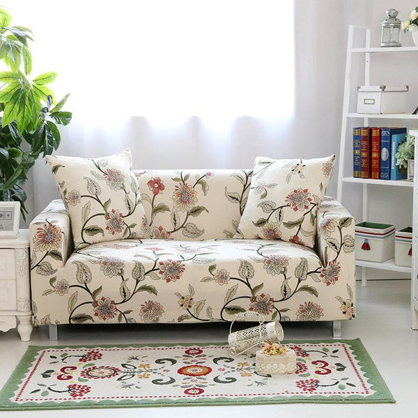 Floral Pattern Elastic Couch Covers