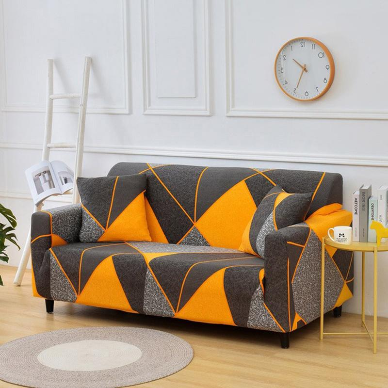 Geometric Pattern Elastic Couch Covers