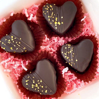 Heart Flourless Chocolate Tortes