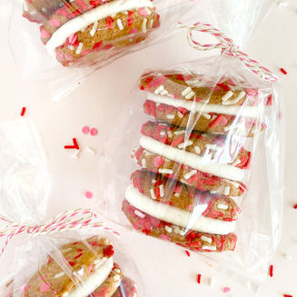Valentine's Confetti Cookie Sandwiches