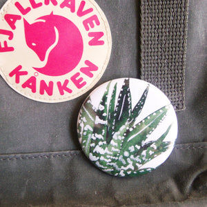 Aloe Vera Big Pin Back Button Badge