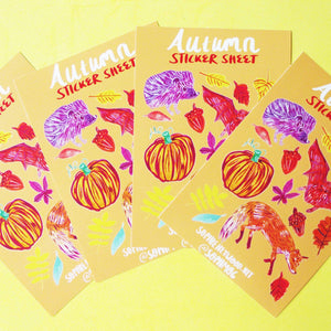 Autumn A6 Vinyl Planner Sticker Sheet