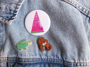 Watermelon 58mm Pinback Button Badge