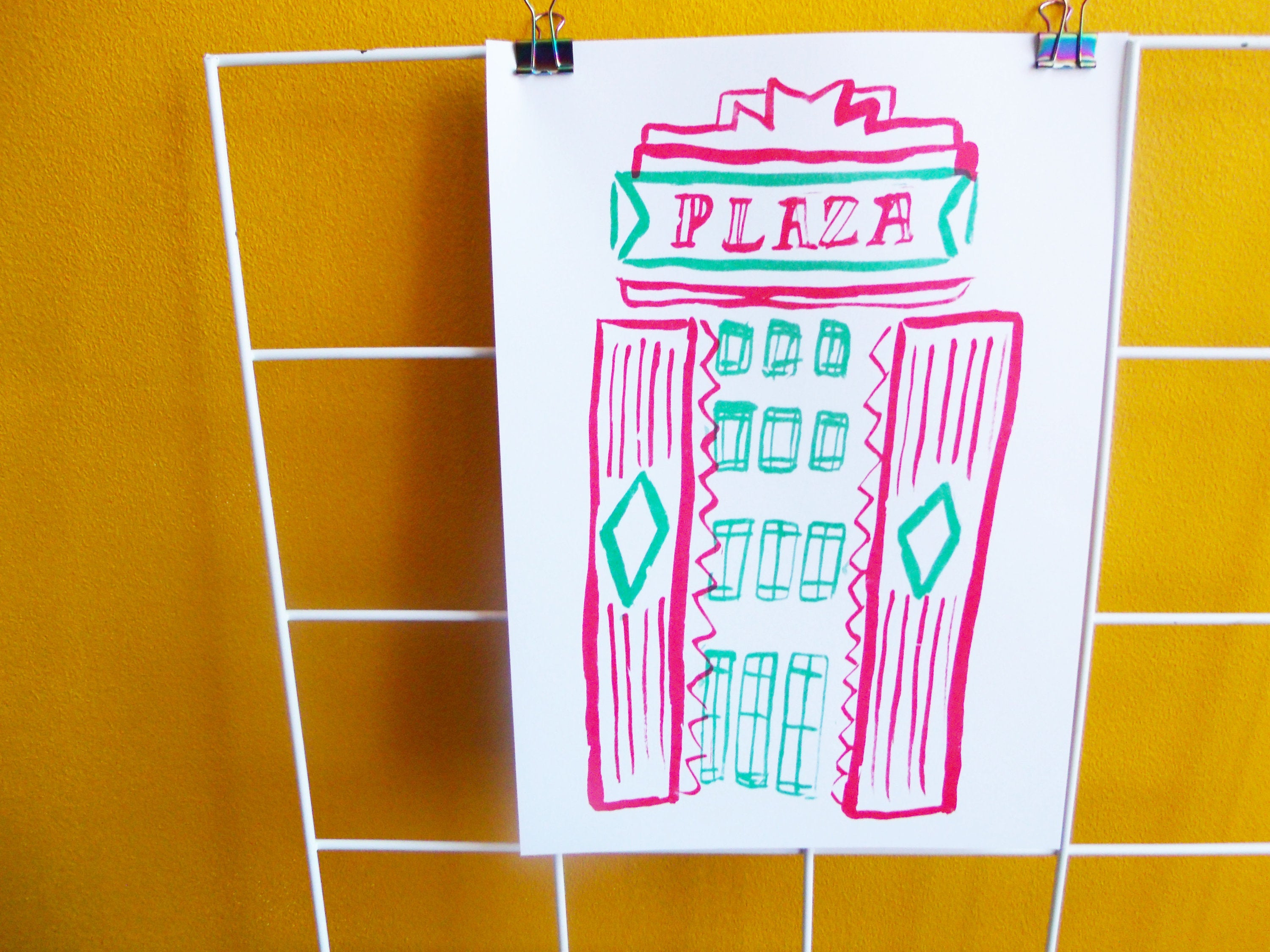 Stockport Plaza A4 Risograph Print