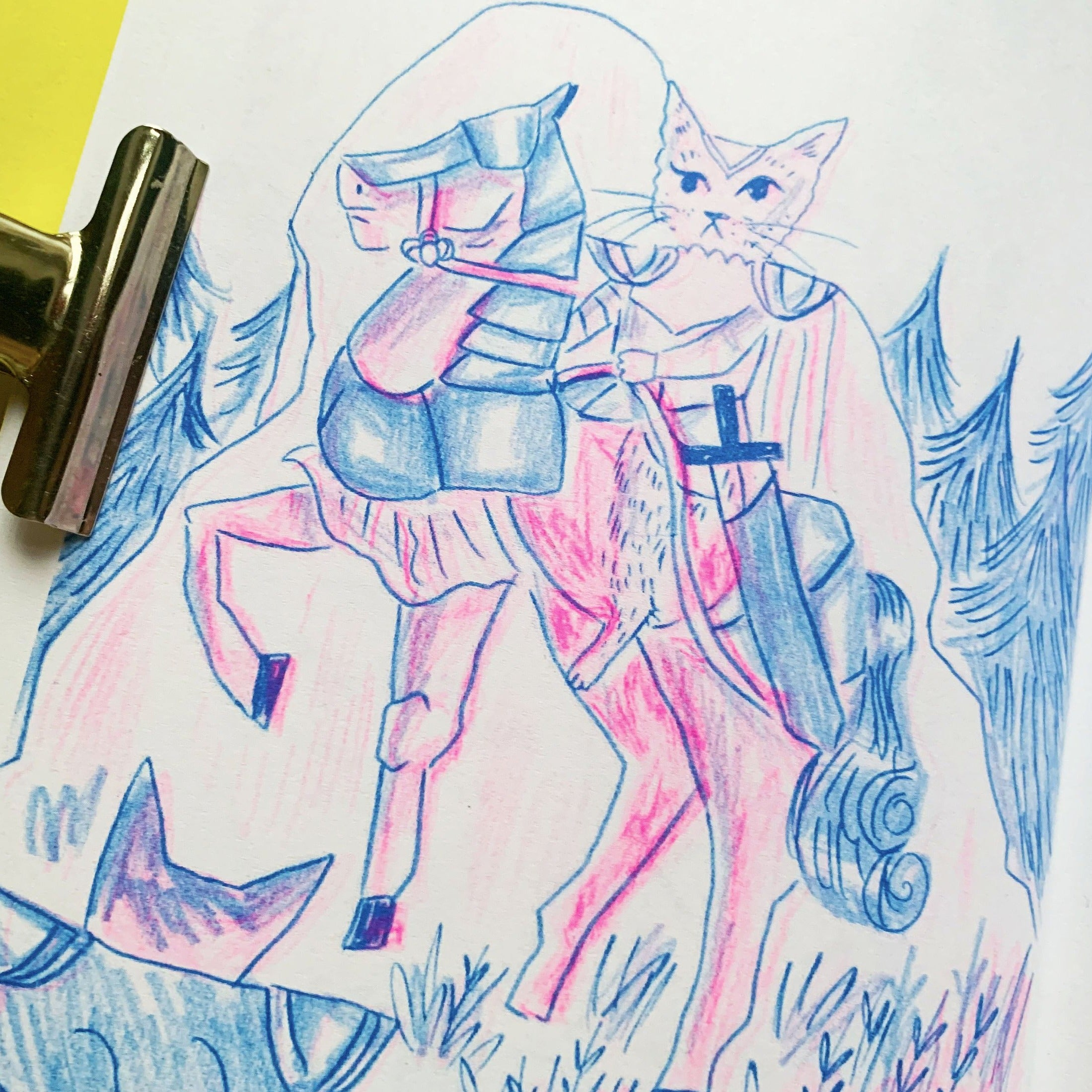 Bark Mage and Friends Vol.1: Risograph Fantasy Comic Zine