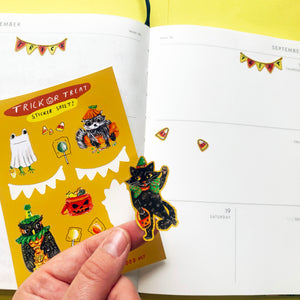 Trick Or Treat A6 Sticker Sheet