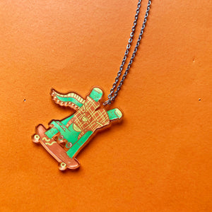 Dylan The Croc Recycled Acrylic Charm