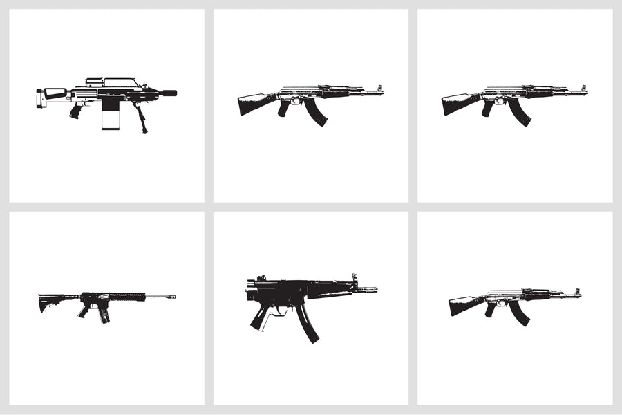Automatics Weapon Vectors - Collection - RuleByArt