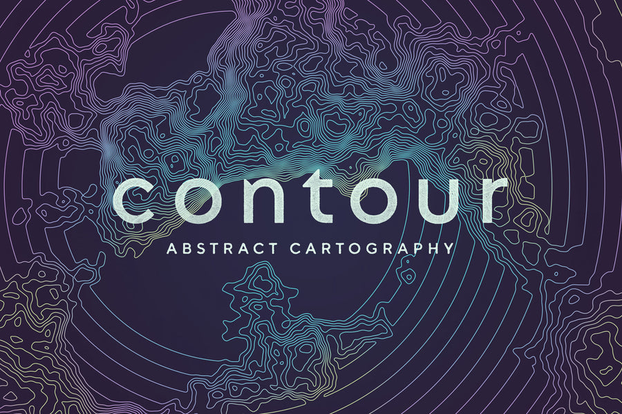 Contour: Abstract Cartography Vectors