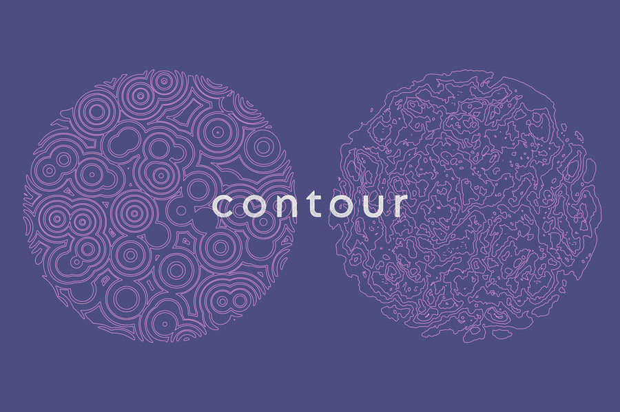 Contour Abstract Cartography