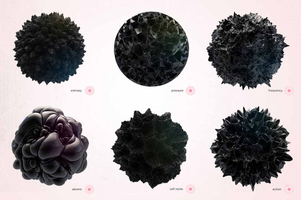 abstract surface planet shapes