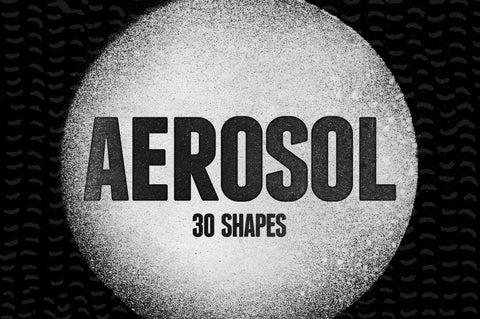 Aerosol Spray Paint Shapes - Collection - RuleByArt