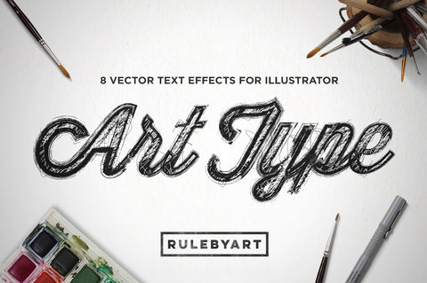 ArtType Illustrator Type Effects - Collection - RuleByArt