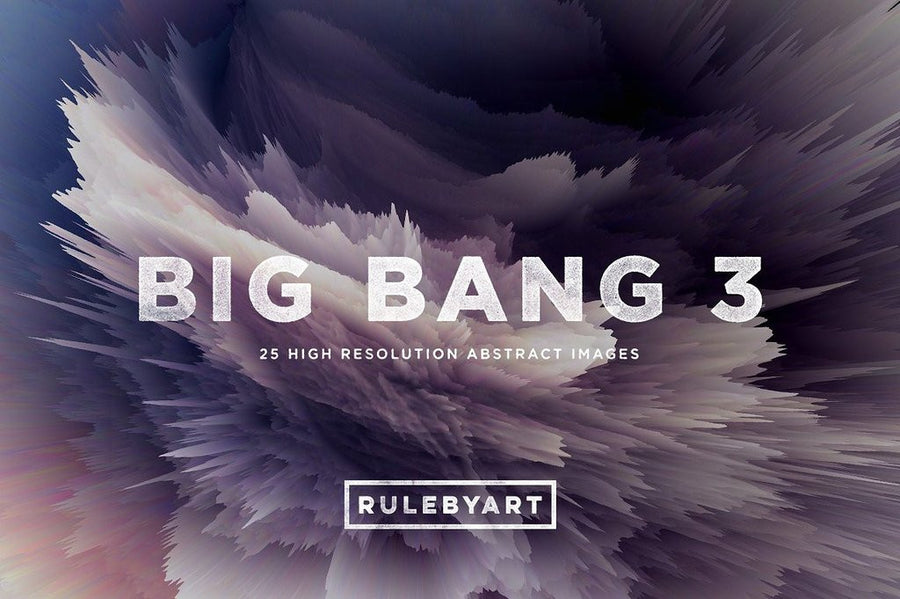 Big Bang Exploding Color Textures 3 - Collection - RuleByArt