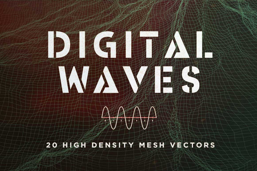Digital Vector Waves - Collection - RuleByArt