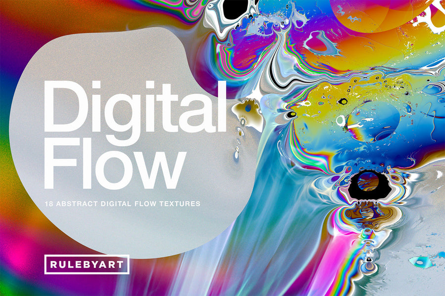 Digital Flow: 18 Abstract Textures