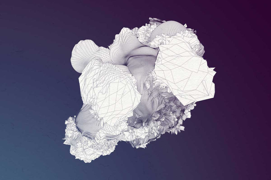 Geode 3D Wireframe Abstract Graphics - Collection - RuleByArt
