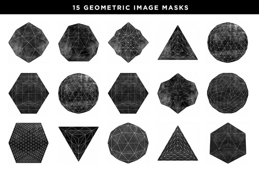 Geometric Graphic Mask Shapes - Collection - RuleByArt