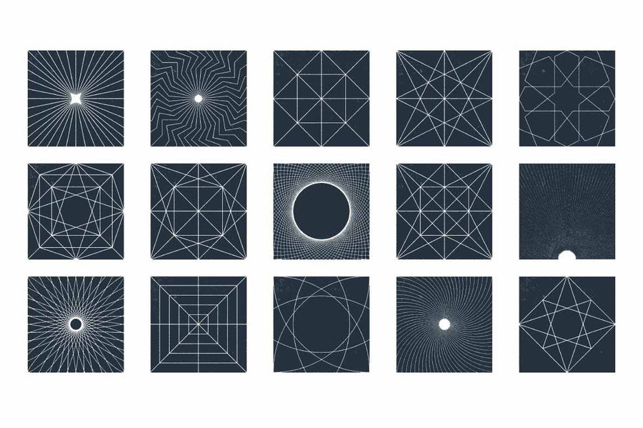 Geometric Vector Shapes - Collection - RuleByArt