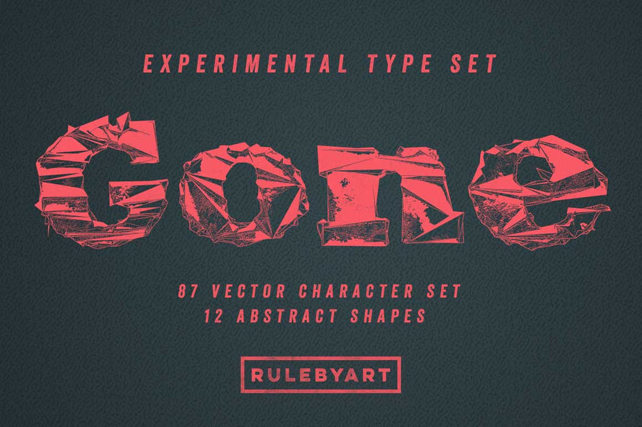 Gone Vector Handset Typography - Collection - RuleByArt