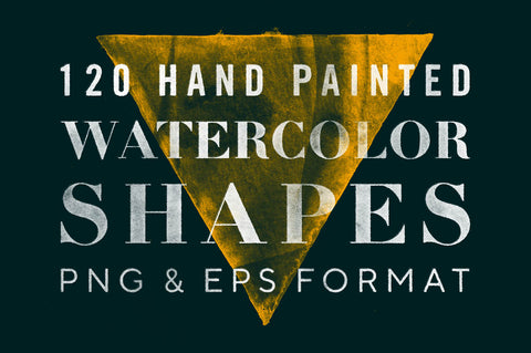120 Hand-Painted Watercolor Shapes