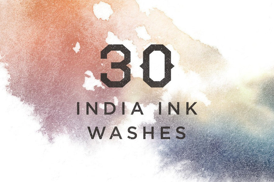 India Ink and Watercolor Washes - Collection - RuleByArt