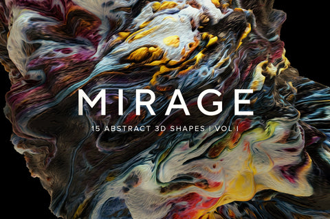 Mirage V1: 10 Abstract 3D Shapes