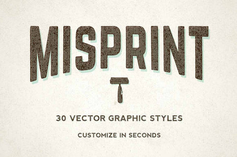 Misprint Vector Graphic Styles - Collection - RuleByArt