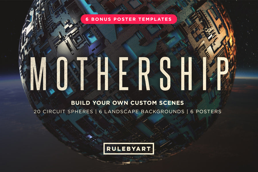 Mothership Circuit Spheres - Collection - RuleByArt