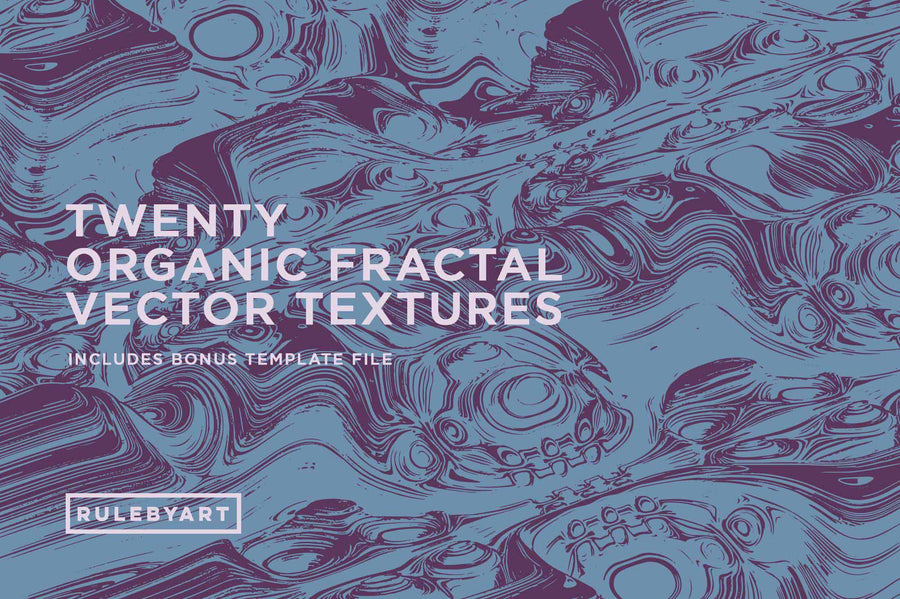 Organic Vector Fractal Textures - Collection - RuleByArt