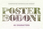 Poster Bodoni Handset Typography - Collection - RuleByArt