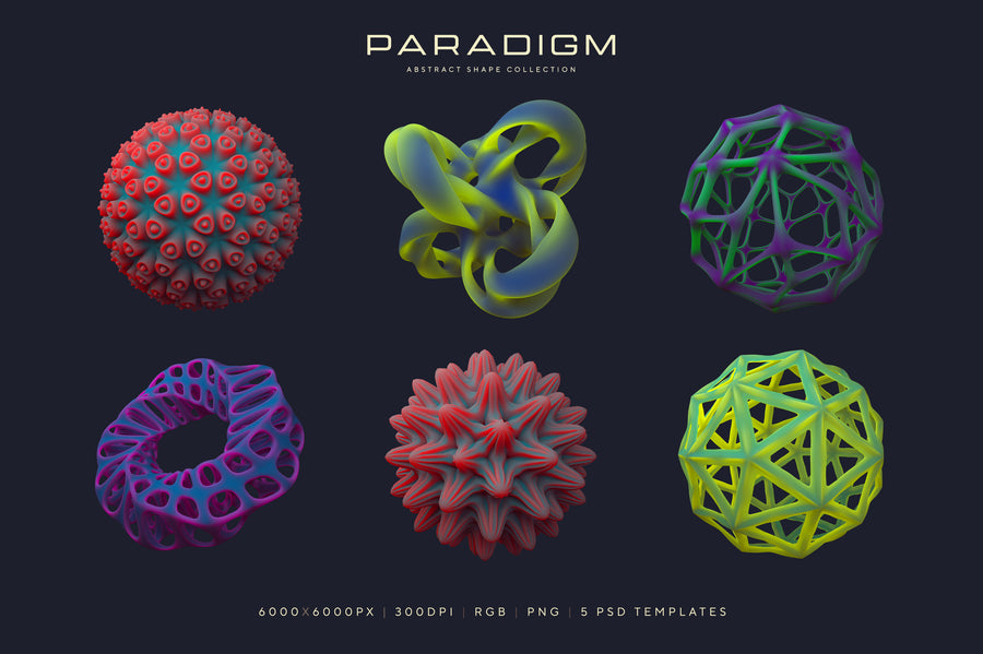 Paradigm Abstract 3D Shapes