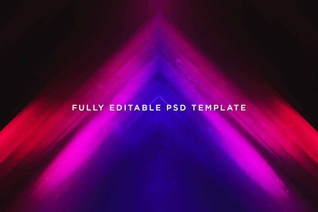 Pulse Abstract Light Photoshop Templates