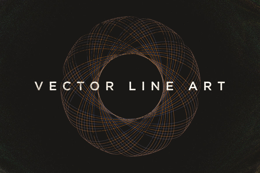 Free Vector Spiral Line Art - Collection - RuleByArt